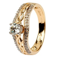 Image for 14k Gold Diamond Celtic Ring