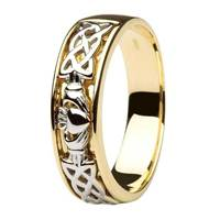 Image for 14kt Two Tone Gents Wedding Ring with Celtic Knotwork