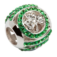 Image for SHAMROCK BEAD ENCRUSTED WITH SWAROVSKI CRYSTALS