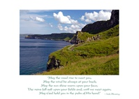 Image for Irish Wisdom May The Road Rise Sympathy Card