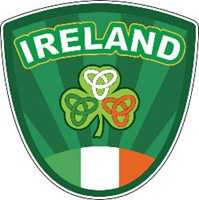Image for Crest Ireland Brand Sticker