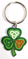 Image for Crest Celtic Shamrock Keychain