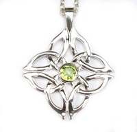 Image for Gráinne Sterling Silver Regular Pendant Set with Peridot