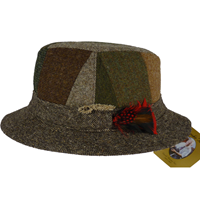 Image for Hanna Walking Hat Striped Brown
