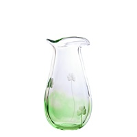 Irish Handmade Glass Shamrock Medium Vase