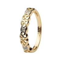 Image for Celtic Design Diamond Set Ring 14K