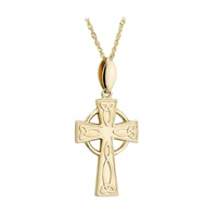 Image for Solvar 14K Gold Small Celtic Cross Pendant