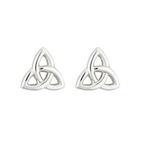 Image for Sterling Silver Tiny Trinity Knot Stud Earrings