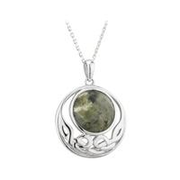 Image for Solvar Sterling Silver Marble Open Celtic Pendant