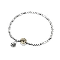 Image for Solvar Rhodium Tree Of Life Bead Bracelet