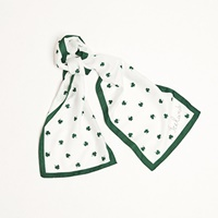 Image for Shamrock Long Scarves, White