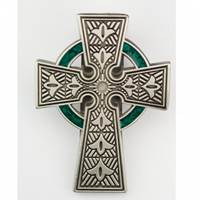 Image for Celtic Visor Clip With Green Halo