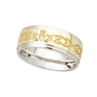 Image for 10K and Sterling Silver Claddagh Band