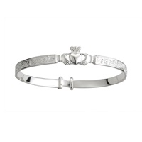 Image for Sterling Silver Baby Claddagh Bracelet