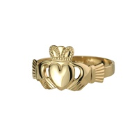 Image for Ladies Heavywieght 14K Puffed Heart Claddagh Ring