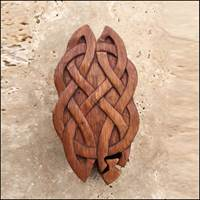 Image for Blue Frogs Handcarved Wooden Long Knot Puzzle Box