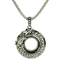 Image for Keith Jack Dragon Collection Sterling Silver Necklace with Black Cubic Zirconia