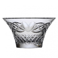 Image for Emerald Crystal Celtic Heart Flared Bowl 6""