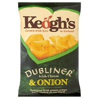 Image for Keoghs Dubliner Irish Cheese And Onion Crisps 125 g
