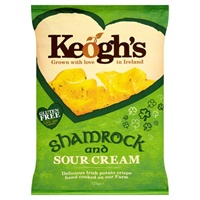 Image for Keoghs Shamrock and Sour Cream Crisps 125 g