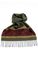 Image for Calzeat Celtic Birds Jacquard Scarf, Olive