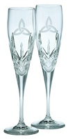 Image for Galway Crystal Trinity Knot Flutes Pair