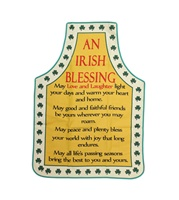 "Image for ""An Irish Blessing"" - Love and Laughter Cotton Apron"