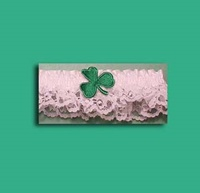 Image for Bridgets of Erin Garter with Green Shamrock