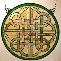 "Image for Bridgets of Erin 18"" Round Celtic Staindglass Window"