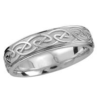 Image for Endless Celtic Design Wedding Ring Sterling Silver