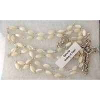 Image for Genuine Mother Of Pearl Rosary Beads