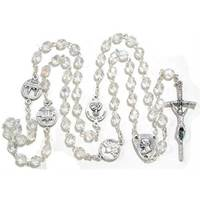 Image for Clear Beaded Irish Rosary