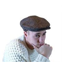 Hanna Tweed Vintage Snap Cap, Browns