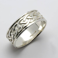 Image for Ladies Sheelin Wide Celtic Knot Wedding Band