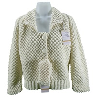Image for Handknit Vintage Blackberry Stitch Jacket Bainin Aran