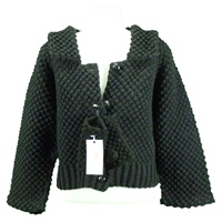 Image for Handknit Vintage Blackberry Stitch Jacket Black