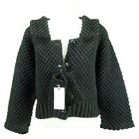 Image for Handknit Vintage Blackberry Stitch Jacket Black