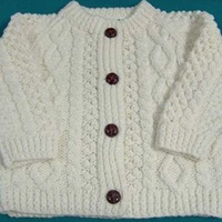 Image for Childrens Aran Cardigan - Acrilyic