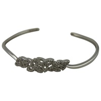 Image for Sterling Silver Trinity Bangle with Cubic Zirconia