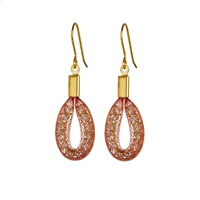 Image for Bláithín Ennis Blush Gold Tiny Teardrop Earrings