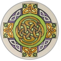 Image for Celtic Knot, Stained Glass Round Suncatcher
