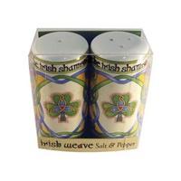 Royal Tara Irish Weave Irish Shamrock Salt and Pepper Set