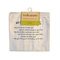 Image for Royal Tara Irish Weave Apron with Irish Blessing on Pocket