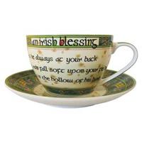 Image for Royal Tara Irish Weave Irish Blessing Cup and Saucer