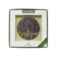 Image for Royal Tara Bronze Plated Tree of Life Plaque