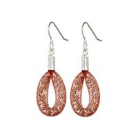 Image for Blaithin Ennis Blush Silver Tiny Teardrop Earrings