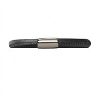Image for Origin Single Turn Leather Bracelet, Black