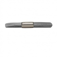 Image for Grey Leather Single Turn 7.5 Inch Origin Bracelet