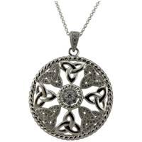 Image for Sparkling Braided Edge Trinity Pendant