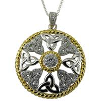 Image for Braided Edged Two Tone Trinity Pendant
